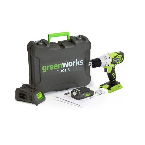 Дриль-шуруповерт акумуляторний Greenworks G24DDК2 c АКБ 2 Ah и ЗП