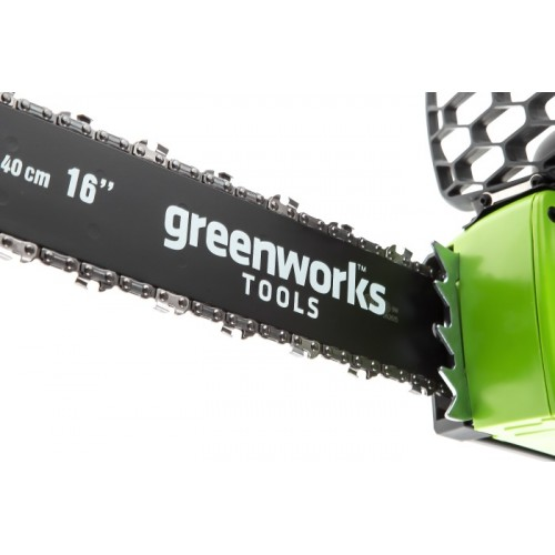 Ланцюгова пила акумуляторна Greenworks GD40CS40K2 з АКБ 2 Ah і ЗП