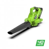 Воздуходув-пилосос акумуляторний Greenworks GD40BV
