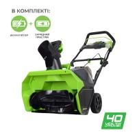 Снігоприбирач акумуляторний Greenworks GD40SB